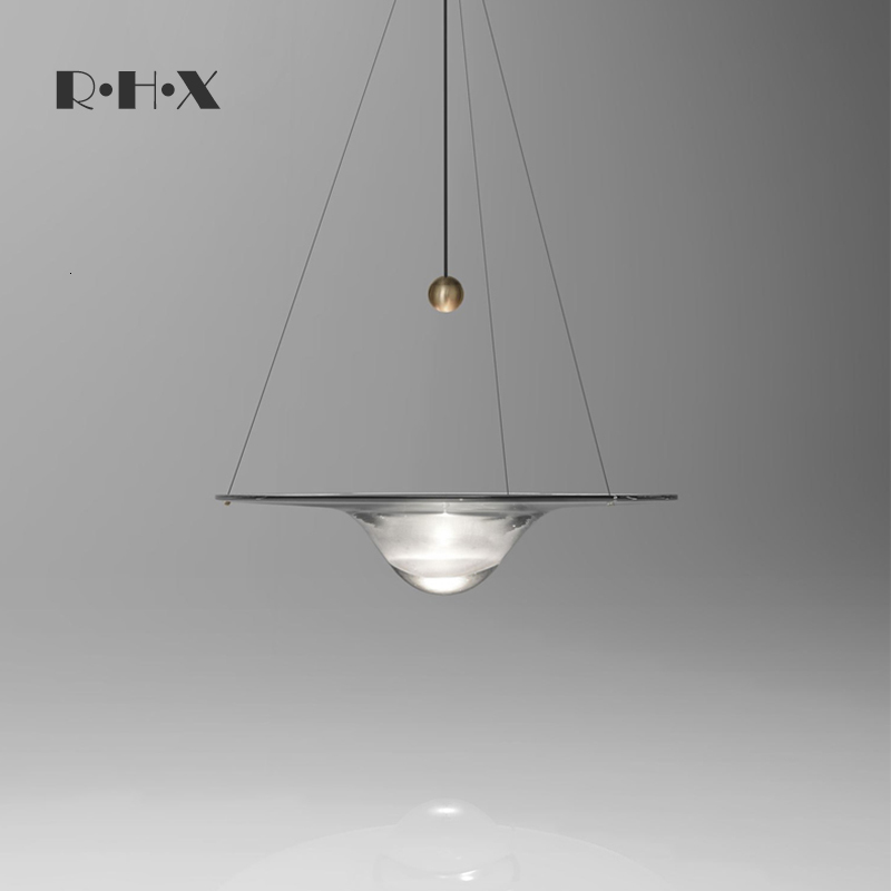 Bar Counter Glass Small A Chandelier Single Head Originality Personality Sand Table Model House Stair Case Long A Chandelier