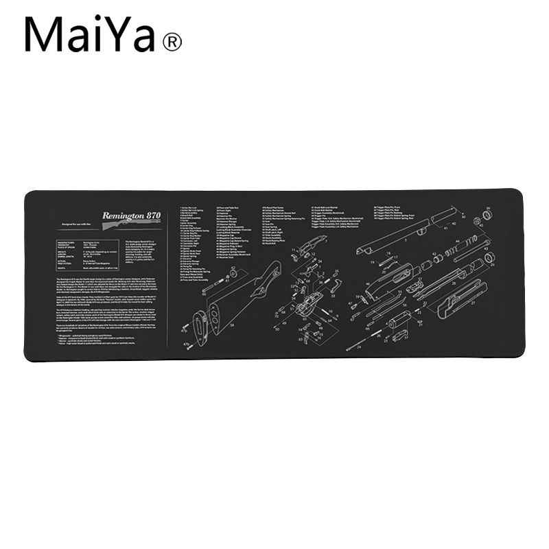 Maiya Top Quality CS GO guns części AR-15 AK47 dostosowane podkładka pod mysz do laptopa do gier darmowa wysyłka duża podkładka pod mysz klawiatury Mat