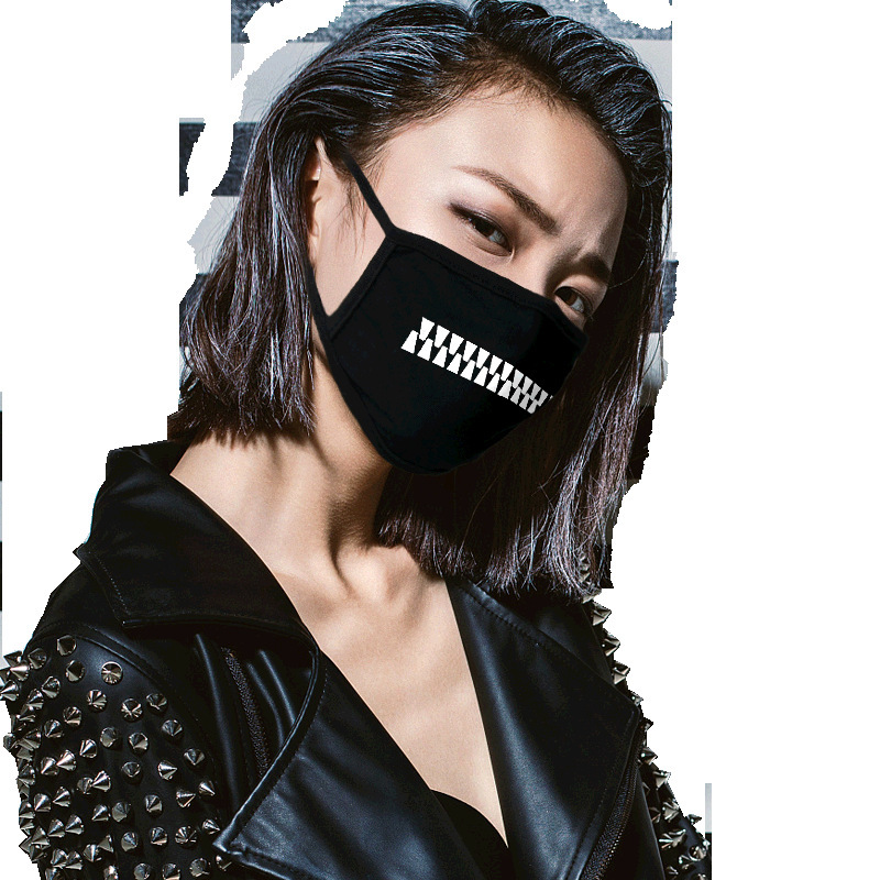 Zipper Style Personality Creative Spoof Funny Drooling Water Masks Men And Women Autumn And Winter Cycling Diffuse Mask