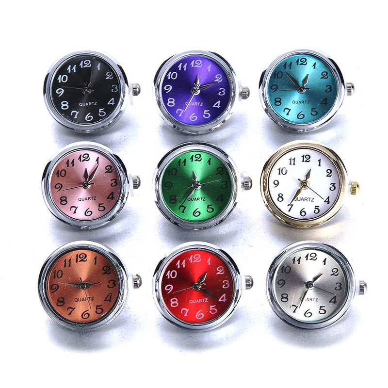 New snaps Jewelry DIY 18mm Glass Watch Snap Buttons Interchangeable Jewelry Accessory Can Move Replaceable Snap Bracelet Jewelry