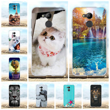 For Huawei Honor 6C Pro Case Soft TPU Silicone Cover Cartoon Pattern V9 Play Shell Bag