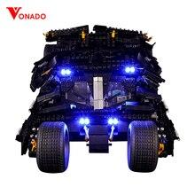 Zestaw światła Led kompatybilny z Lego 76023 7111 superbohaterowie Batman Tumbler batmobile Blocks technic cegły budowlane zabawki