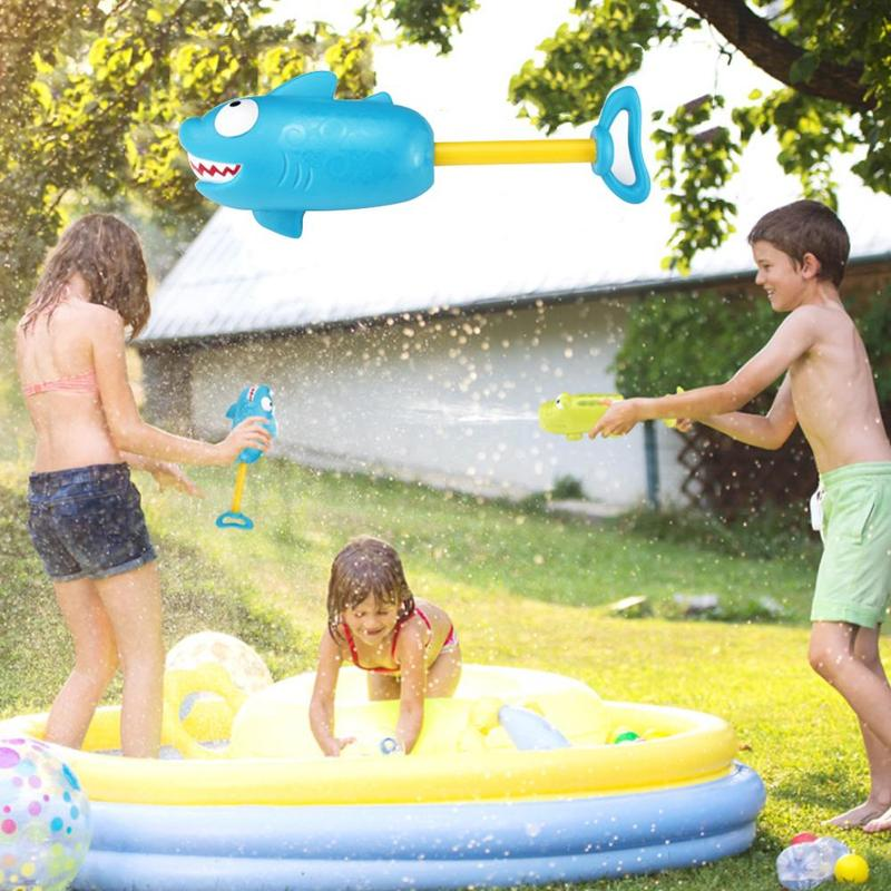2019 Summer Water Guns Kids Toys Crocodile Shark Pistol Blaster Outdoor Games Swimming Pool Portable Spray Toys For Children