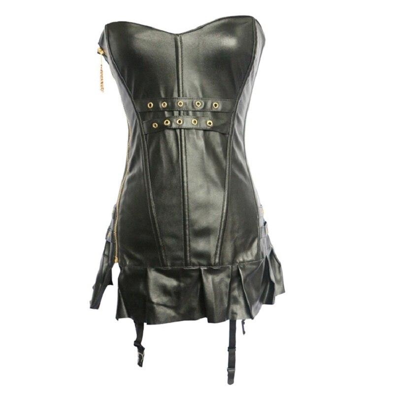 Соблазнительные женские корсеты бюстье черное платье на молнии