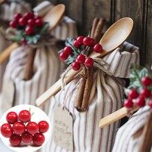100 pçs artificial berry decorações de natal para casa noel jardim diy artesanato natal decoração da árvore de natal navidad festa de ano novo-s