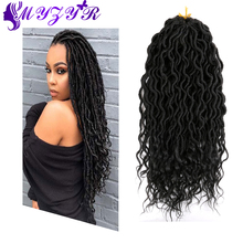 Crochet Hair Curly-Ends Black Hair-Extension ZYR Ombre for Women Low-Temperature-Fiber