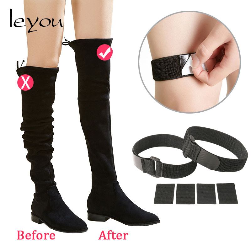 Boots Accessories Anti Slip Velcro For Boots Decoration Sticky Buckle Tie Boots Elastic Fastener Belt Cloth Bandage Cloth