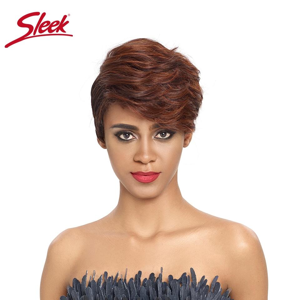 Sleek Short Human Hair Wigs Cool Short Pixie Haircuts For 2020 U Part Lace Short Wigs 100% Remy Brazilian Hair Wigs Cutr Wigs