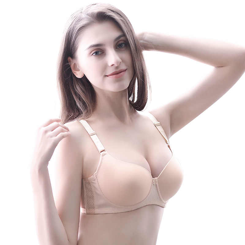 PAERLAN New Adjustable Thin Bra Soft and Comfortable Inner Cup 3/4 Cup Large Size Bra D Cup Gathered Bra Sexy Underwear Female