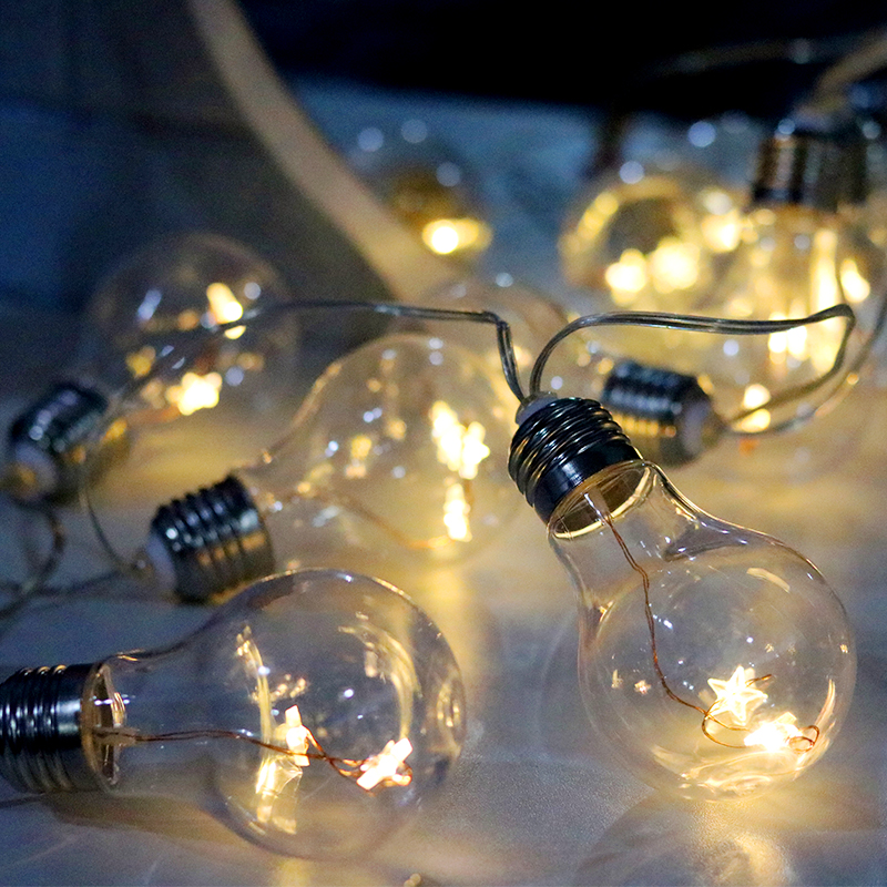10 LED Fairy Bulb Battery Operated String Lights 2M Luces LED Decoration For Christmas Garland New Year Guirlande On The Window