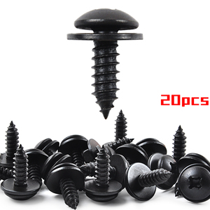 Partsworld-tornillos de parachoques para Honda Acura 90114-SE0-000 90114-SZ3-000, protección contra salpicaduras, tornillo de revestimiento para ruedas, 20 Uds.