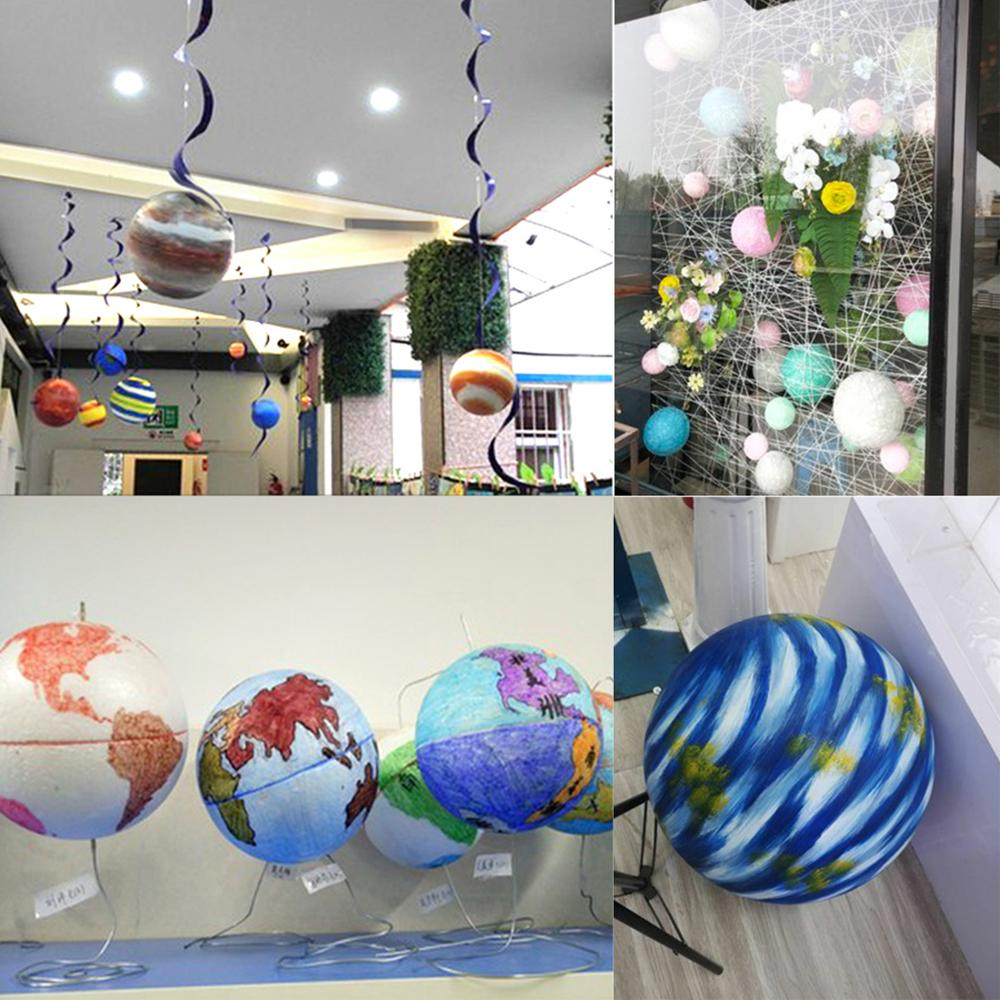 XMAS Party Polystyrene Styrofoam Foam Ball Accessory Party Decorations Craft DIY