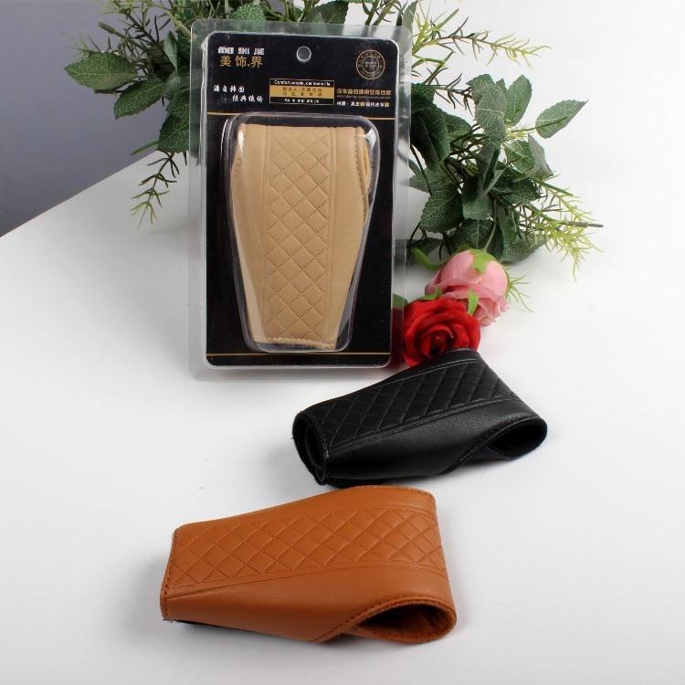 Car Supplies Shift Knob Cover Car Interior Trim Supplies Wholesale Textured Lambskin Shift Knob Cover