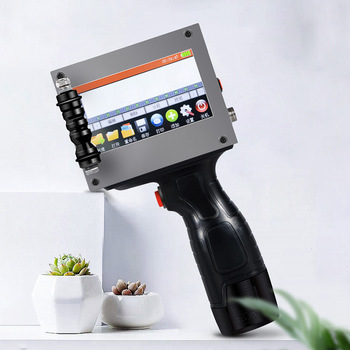 portable hand jet handheld Touch inkjet printer for logo/ expiry date/batch code/serial number/label/barcode/QR code small logo printer color inkjet printer intelligent printing touch screen date batch code serial number label barcode qr code