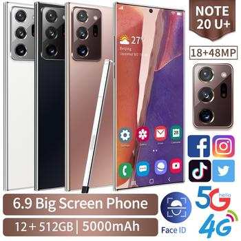 New Global Version Galxy Note20U+ Smartphone 12GB 512GB 6.9Inch 5000mAh Android 10.0 Snapdragon 865 Mobile Phone 4G5G GPS WiFi