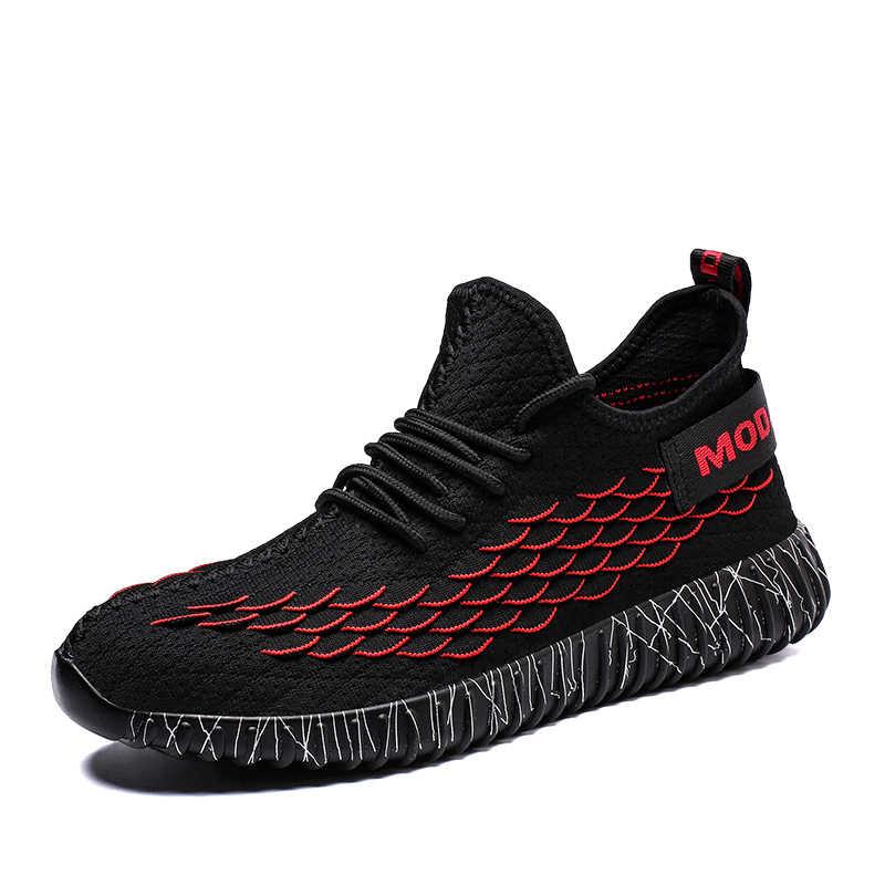 Летняя легкая обувь; Мужская дышащая модная повседневная обувь; удобная Высококачественная сетчатая обувь; кроссовки; большие размеры; Лидер продаж; черный цвет