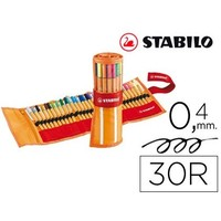 MARKER STABILO FIBER NIB POINT 88 CASE DE 30 PCS ASSORTED