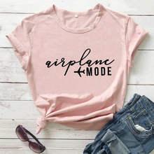 T-shirt drôle de voyage pour filles, mode avion, chemise de vacances, chemises de voyage pour filles, chemises de voyage pour lune de miel, 2020
