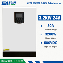 EASUN POWER 500Vdc Solar Inverter 3200W 24V 220V 80A MPPT 4000W PV Reinen Sinus wechselrichter 3Kva 50Hz Off Grid Inverter Ladegerät