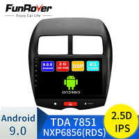 FUNROVER android9.0 2,5 D + IPS auto radio multimedia player Für Mitsubishi ASX Peugeot 4008 Citroen C4 stereo dvd navigation RDS FM