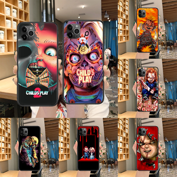 Child's Play cult of chucky Phone case For iphone 4 4s 5 5S SE 5C 6 6S 7 8 plus X XS XR 11 12 mini Pro Max 2020 black waterproof image