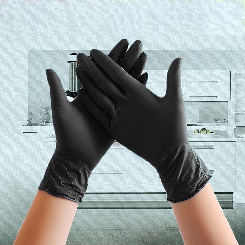 100 шт. одноразовые латексные нитриловые резиновые перчатки для кухни/мытья посуды/работы/сада Универсальные перчатки для левой и правой рук...