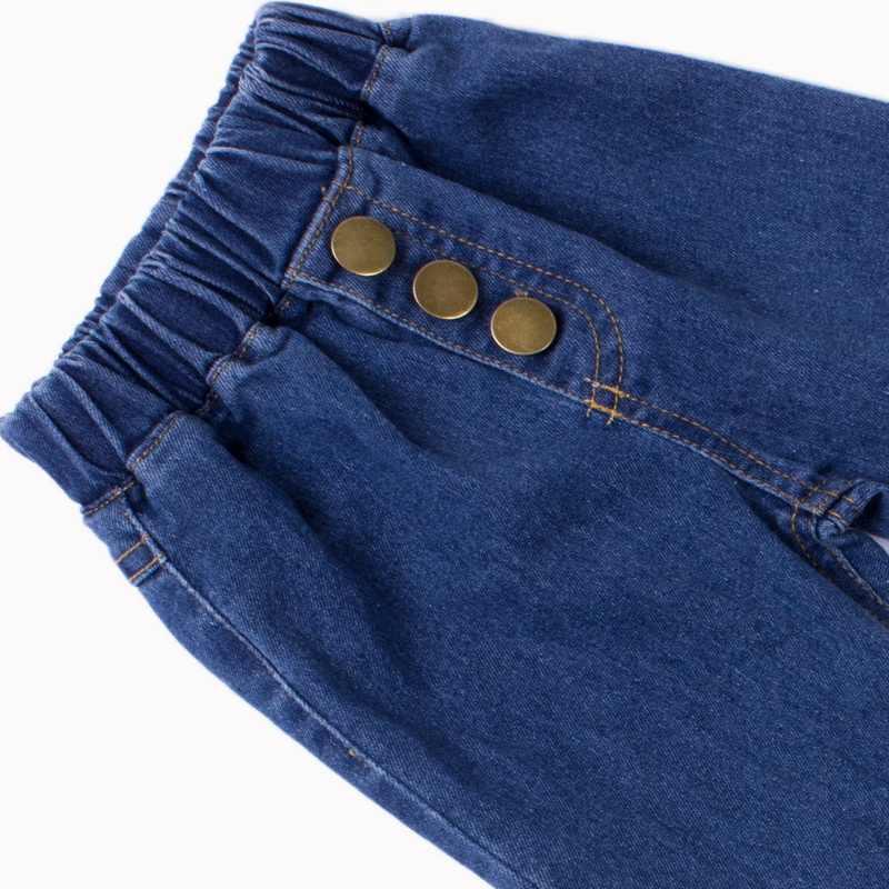 LOOZYKIT nouvelle mode décontracté enfant en bas âge bébé enfants filles pantalon Denim cloche bas pantalon jean jambe large pantalons longs Stretch 2-7Yrs