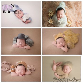 Whole Set Newborn Photography Props Baby Photo Shoot Clothes Blanket Wrap Hat Backdrops Set Birthday Picture foto Shooting Prop