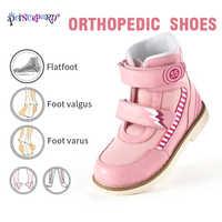 Princepard 2019 automne baskets orthopédiques rose gris enfants chaussures orthopédiques en cuir véritable taille 19-37 taille européenne