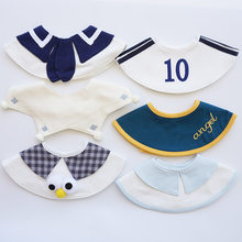 Ins Korean New Baby Boys Bib Cotton Cute Sport Baby Saliva Towel Fake Collar Burp Cloths Baby Stuff Accessories(China)