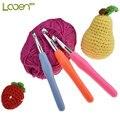 Looen большой размер 8,0 мм-10,0 мм крючок для вязания крючком, мягкая ручка с рукояткой, вплетать в пряжу спицы, вязальные иглы большого размера, ж...