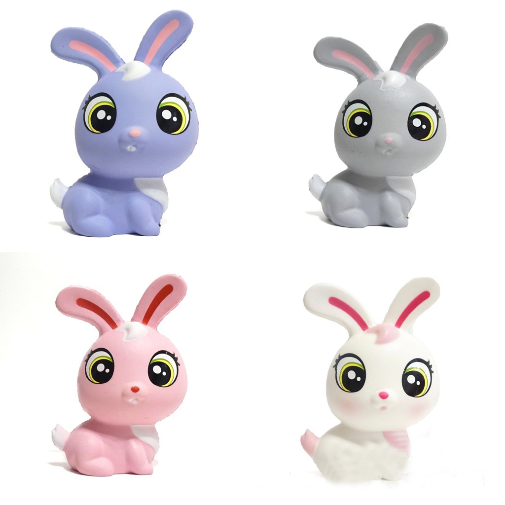 Cute Mini Rabbit Soft Squishies Doll Children Gifts Animal Bunny Scented Slow Rising Toy Adults Stress Relief Squeeze Toys