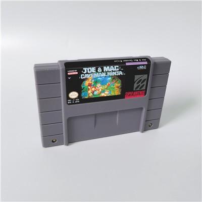 Joe y roció cavernícola Ninjas o Joe y roció 2 perdido en el trópico tarjeta de juego de acción nos versión en inglés