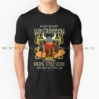 Arenque fermentado camiseta Viking Sushi diseño de moda camiseta arenque fermentado desafío...