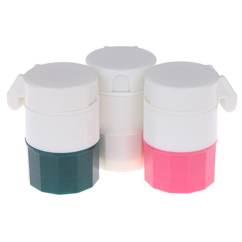 Измельчитель таблеток порошок таблетки резак разделитель для лекарств коробка для хранения дробилки Портативный 4 в 1 4 слоя порошок