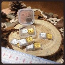 Золотая и серебряная краска собственного приготовления воды двухцветная 0,5 мл aquarella acuarella упаковка цвета воды Colageno Hidrolizado из Японии
