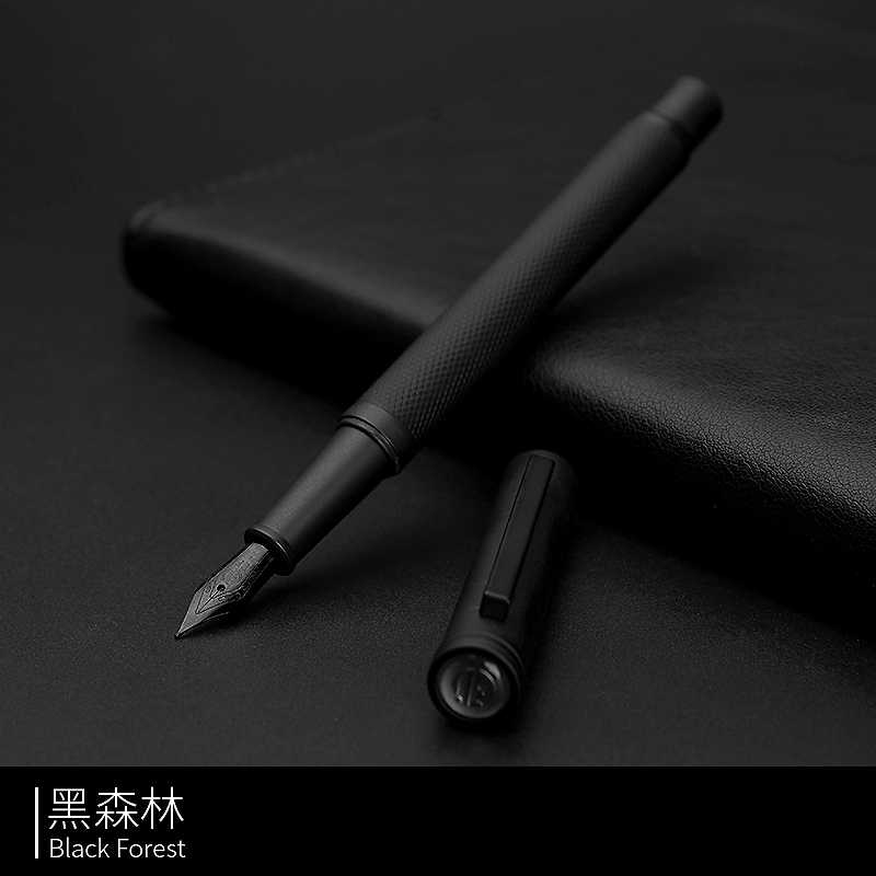 luxury matte black Titanium black nib fountain pen signature Frosted Supplies