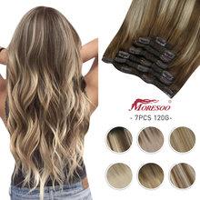 [Горячая Распродажа] moresoo натуральные волосы для наращивания