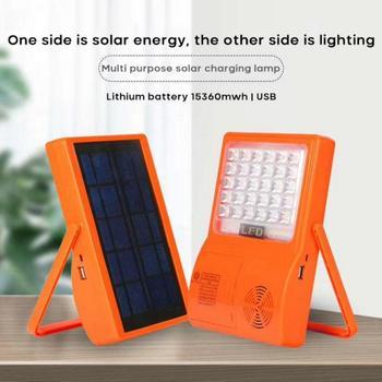 Portable Lanterns Led Flood Light Outdoor Solar Floodlight Spotlight Emergency Rechargeable Lamp Landscape Lighting