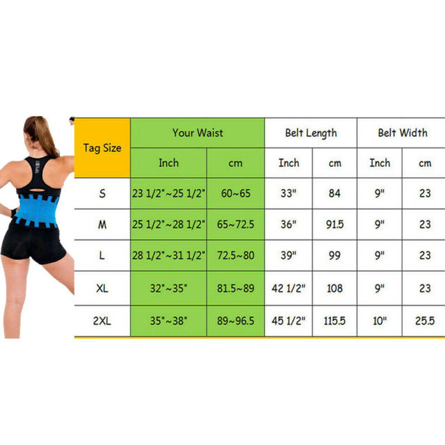 HOT Best Waist Trainer for Women Lady Sauna Sweat Thermo Sport Shaper Belt Slim 4