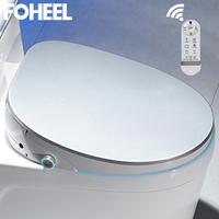 FOHEEL new 5 color wc Auto SPA smart toilet seat smart knob HD LED display toilet seat cover electronic bidet toilet lid