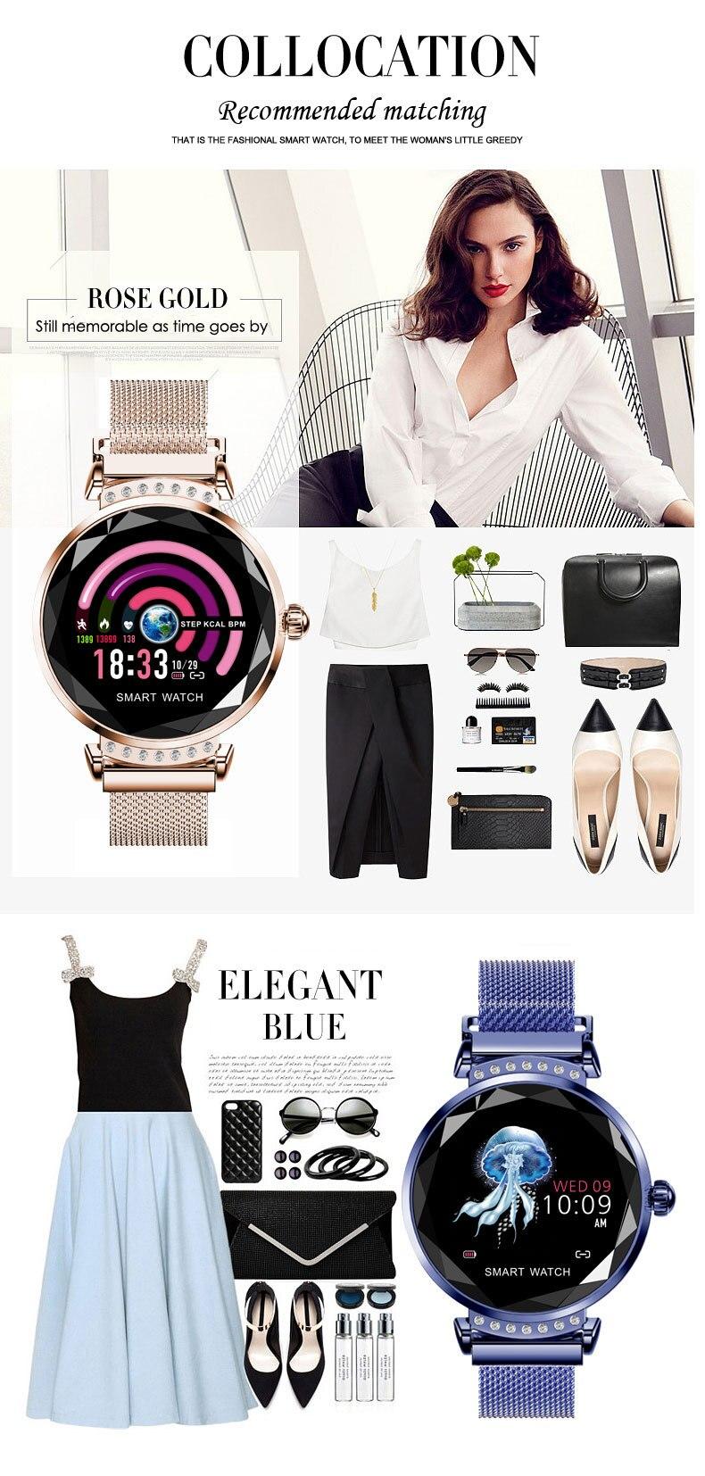 H2 mulheres moda inteligente pulseira detecção de