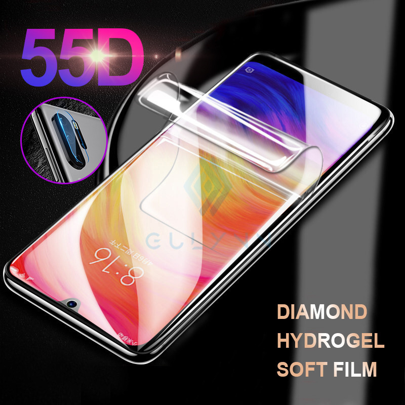 2 in 1 A3 9 9T Lite Hydrogel Film For <font><b>Xiaomi</b></font> Redmi 8 8A Note8 Note 7 6 8 9 4X Pro <font><b>Camera</b></font> Glass <font><b>Protector</b></font> Film For <font><b>Mi9</b></font> Full Cover image