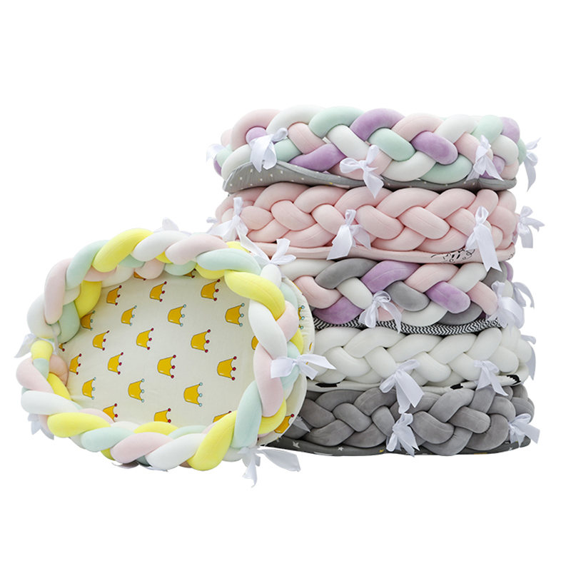 Newborn Portable Crib Bed Nursing Cushion Mom Breast Feeding Bed Weaving Moses Basket Foldable Washable Removable YYJ008