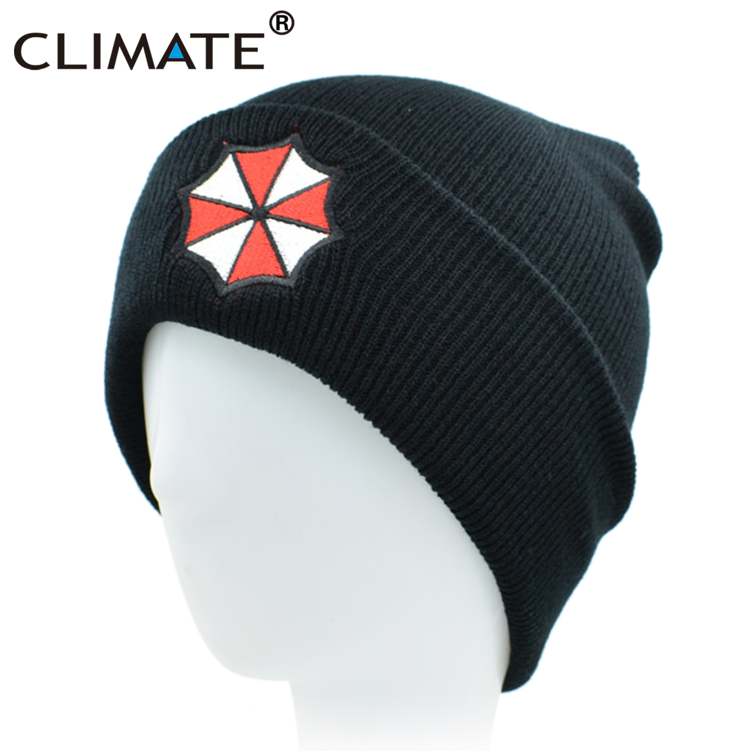 CLIMATE Umbrella Corporation Beanie Hat Winter Warm Beanie Hat Men Women Soft Cool Knitted Beanies Hat Cap For Adult Men Women