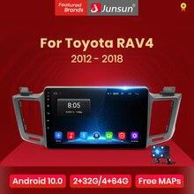 Junsun V1 Android 10 AI Voice Control 4G Car Radio Multimedia Navigation GPS For Toyota RAV4 2012 2013 2014-2018 2 Din no DVD