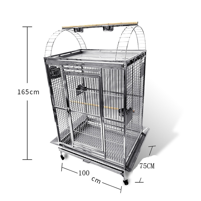Stainless Steel Parrot Cage 40''*30''*67'' 5