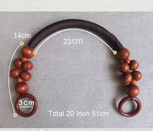 """Image 4 - 100 pieces=50 pairs, 9 Colors Long 51cm 20"""" Wood Beads Rope Handle for women bags,Vintage Bead Rope Purse Handle Wholesale"""