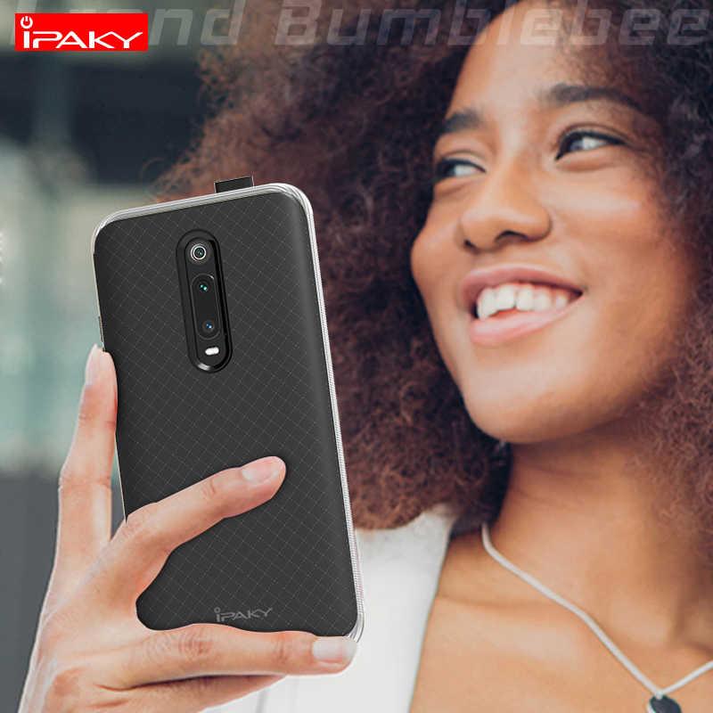 IPAKY противоударный жесткий чехол для телефона пластик + силиконовый чехол на ксиоми редми ми 9T про ми9T ми9 T Xiaomi Redmi Mi9T Pro Global 6/8 32/64/128 ГБ Xiomi бампер