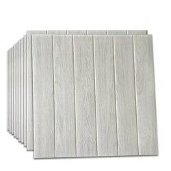 12 stücke Selbst Klebstoff Wasserdicht 3D Holzmaserung Tapete Tv Hintergrund Wand Rock Aufkleber Für Wohnzimmer Wandbild Schlafzimmer Dekorative